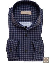 john miller overhemd medium geruit cutaway stretch slim fit