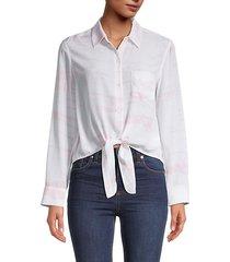 self-tie silk shirt