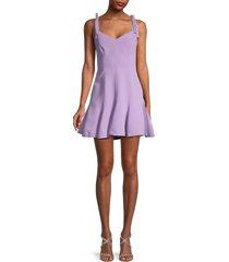 cinq à sept women's kirsty shoulder-tie fit-&-flare dress - purple - size 12