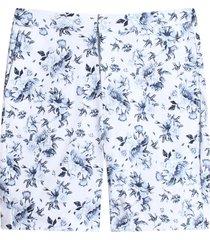 bermuda con estampado floral color azul, talla 10