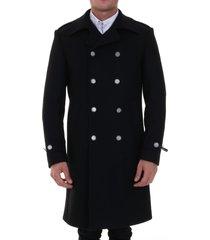 tonello wool coat black