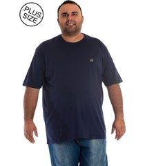 camiseta konciny básica plus size azul marinho