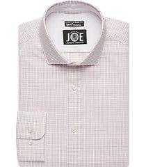 joe joseph abboud brrr° berry check slim fit dress shirt