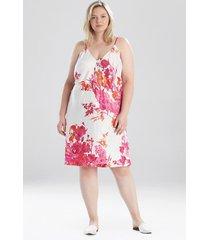 natori bloom slip dress sleep pajamas & loungewear, women's, size s natori