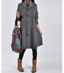 wool blend fashion outwear jacket coat newly women loose trench cape coat m 2xl
