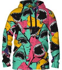 damska bluza z kapturem dr.crow angry sharks
