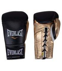 luvas de boxe everlast powerlock com amarração - 12 oz - adulto