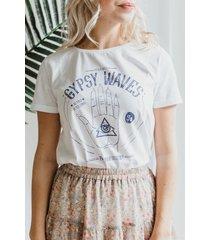 femme9 shirt / top wit gerlin