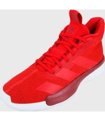 tenis basketball rojo-blanco adidas performance pro next 2019