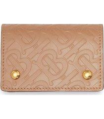 burberry monogram leather card case - neutrals