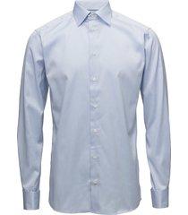 signature twill-slim fit overhemd business blauw eton
