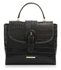 brahmin ingrid black leif leather satchel