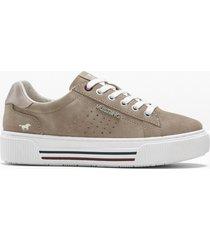 sneaker con plateau mustang (marrone) - mustang