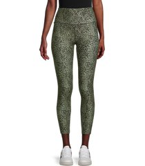sage collective women's wild-print ankle-length leggings - spring - size s