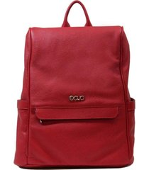 mochila antifurto em couro recuo fashion bag vermelho