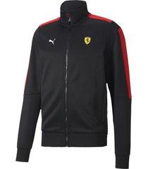 chaqueta  negra puma scuderia ferrari racet7 hombre 597944-02