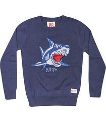 ao76 embroidered shark sweatshirt