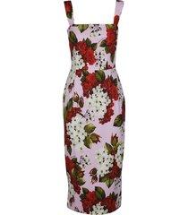 dolce & gabbana multicolor viscose blend dress