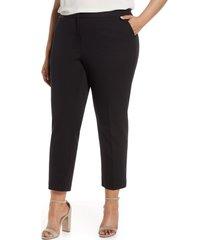 plus size women's vince camuto stretch twill crop pants, size - (plus size) (nordstrom exclusive)