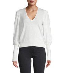 ula puff-sleeve cotton & linen sweater