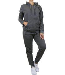 galaxy by harvic women's pullover fleece hoodie with fleece jogger sweatpants 2-piece set