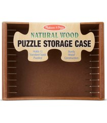 melissa and doug natural wood puzzle case