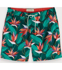 scotch & soda printed swim shorts