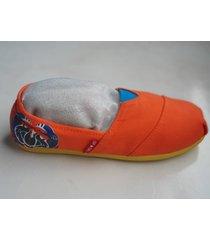 alpargatas sport con cangrejo azul oscuro color naranja
