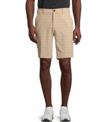 hickey freeman men's performance flat-front shorts - sand - size 40