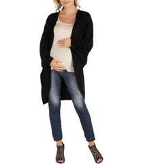 24seven comfort apparel circle shape long sleeve maternity cardigan