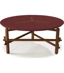 mesa de centro twist 761 cacau/bordo - maxima