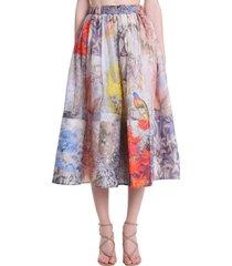 zimmermann skirt in multicolor linen