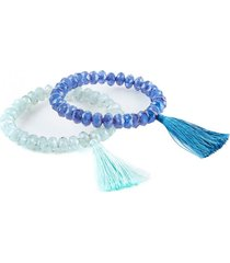 pulsera diamonds agua azul humana