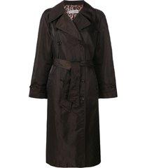 dolce & gabbana pre-owned loose fit midi coat - brown