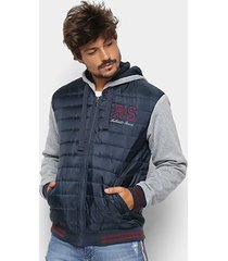 jaqueta com moletom rock & soda matelassê masculina