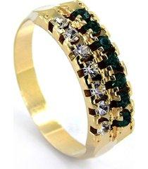 aliança horus import duplapedras cristal esmeralda