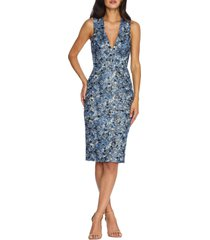 women's dress the population colette sequin floral cocktail dress