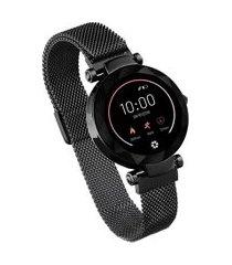 relógio smartwatch paris átrio es267 esportivo full touch preto