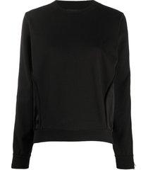 diesel satin-panelled sweatshirt - black