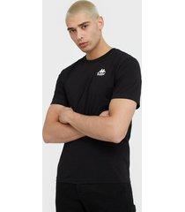 kappa t-shirt s/s auth wollie t-shirts & linnen svart/vit