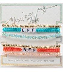 women's kaitlyn bff friendship bracelet set in fusha by francesca's - size: one size