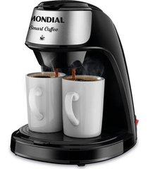 cafeteira mondial smart coffee com 2 xícaras c-42-2x-bi preta