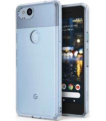 estuche protector ringke fusion google pixel 2 - transparente