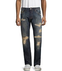 rebel straight distressed jeans