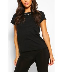 basic crew neck t-shirt, black