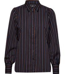 agona ls shirt overhemd met lange mouwen blauw second female