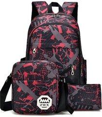 mochila/ conjunto para hombre de gran capacidad para-rojo