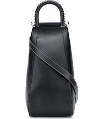 jw anderson one-shoulder double-zip backpack - black