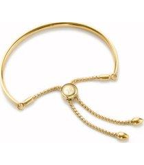 fiji chain bracelet, gold vermeil on silver