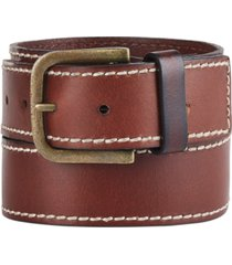 frye and co men's stitched leather belt